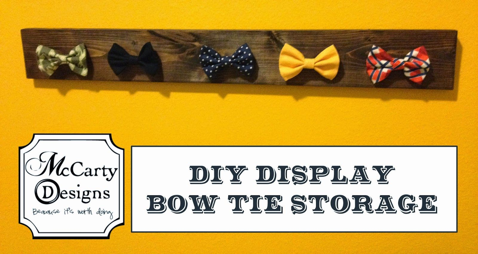 f9b38251a4c8 DIY Display Bow Tie Storage! Make a super easy way to display and use your  child's bow tie collection!
