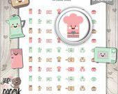 Kitchen Stickers, Kitchen Stuff Stickers, Baking Stickers, Cooking Stickers, Bake Stickers, Home and Kitchen, Planner Stickers, Microwave