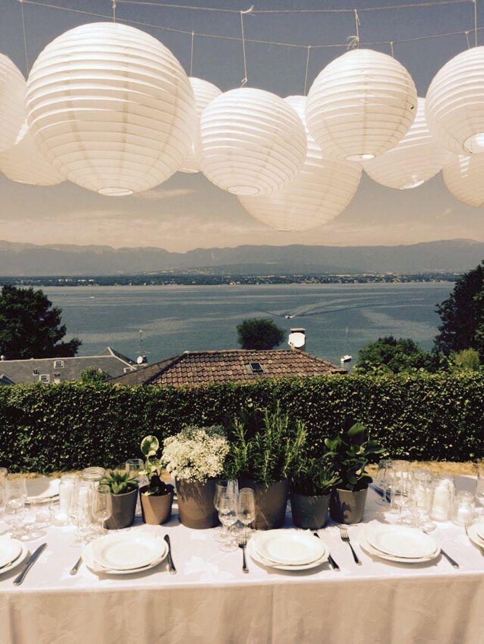 Un mariage en plein air sous les lampions - décoration de mariage ...