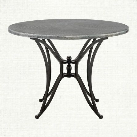 Zinc Alloy 42 Round Table Top With Kenya Dining Base