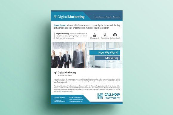 Creative Marketing Flyer V By Khidd On Creativemarket  Awesome