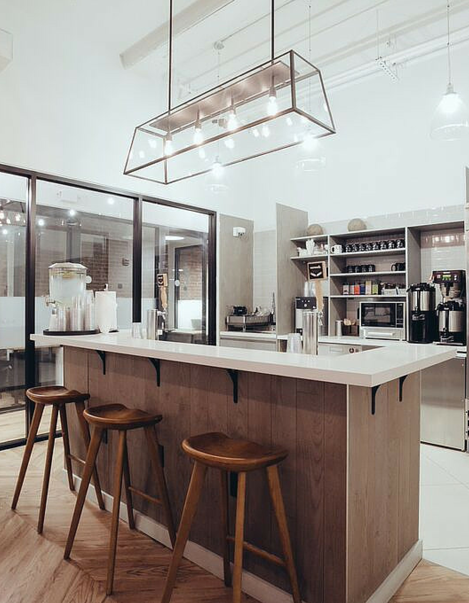 Simple Kitchen Design At WeWork Our West Broadway Office Space. Part 77