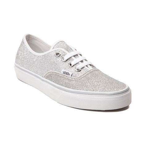 The Authentic from Vans is always in style. The shoe features a glitter-covered canvas upper, rubber sole and lace closures.