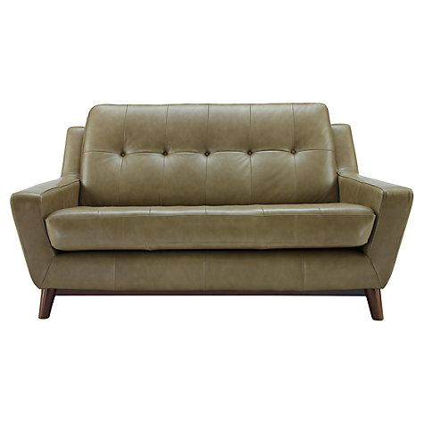 G Plan Vintage The Fifty Three Small Leather Sofa Olive Green Small Leather Sofa Leather Sofa Best Leather Sofa