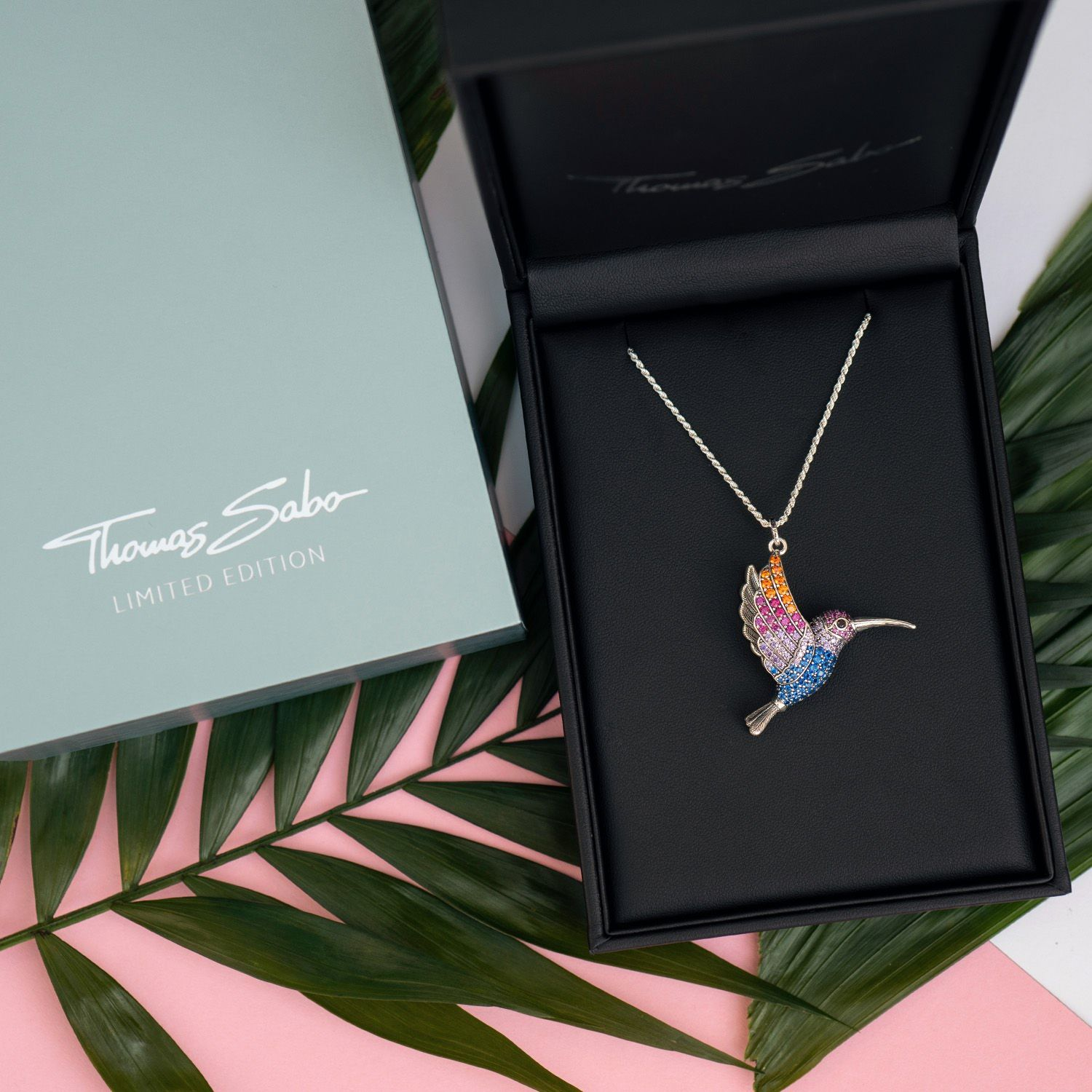 Available Now Limited Edition Thomas Sabo Hummingbird Presented In An Elaborately Hand Crafted Pendant Which Is L Thomas Sabo Jewelry Lover Tropical Jewelry