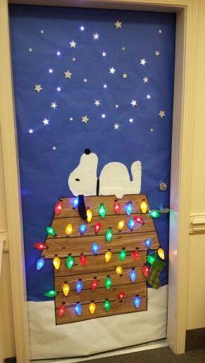 Snoopy Door Decoration Christmas Door Decorations Door