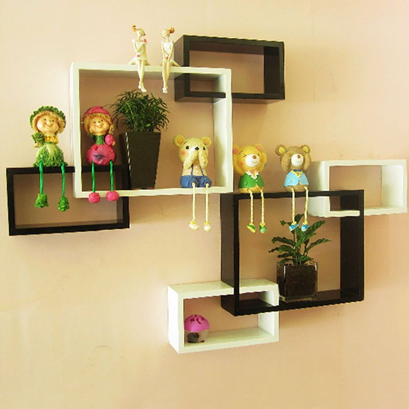 Wall Shelves Display storage Cubes Bookcases Bookshelf Decorative ...