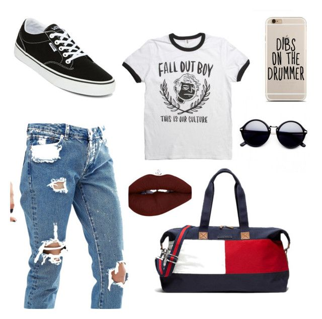 """""""Untitled #43"""" by elisha-m-ronald on Polyvore featuring ASOS, Vans and Tommy Hilfiger"""