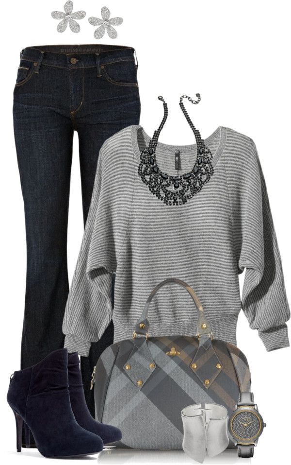 """""""Untitled #1532"""" by lisa-holt on Polyvore- greys!"""