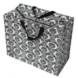 Jumbo Bag Baroque Black White Bag Storage Large Storage Bags Stylish Storage