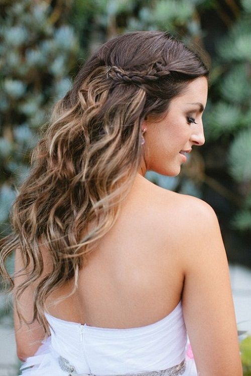 Pretty Wavy Wedding Hairstyles For Medium Length Hair New