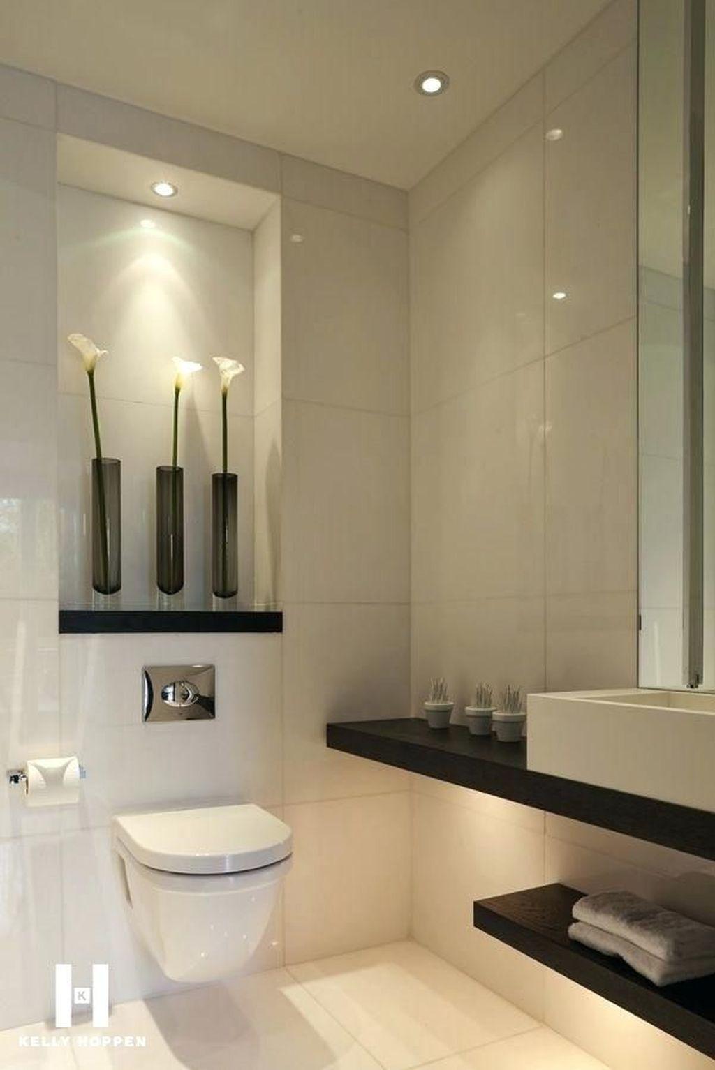 30 Simply Elegant Spa Bathroom Ideas Modern Small Bathrooms