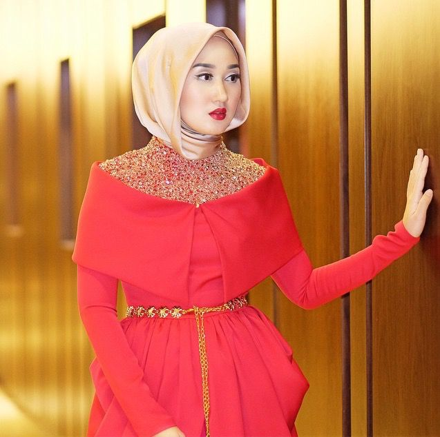 sabrina hijab dress | Gaya hijab, Model pakaian hijab ...