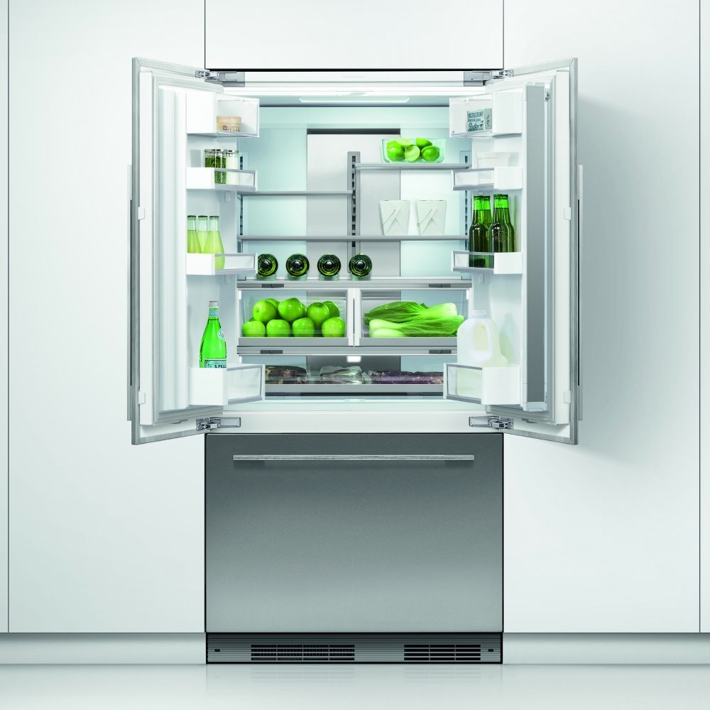 Fisher paykel rsau integrated french style fridge freezer with