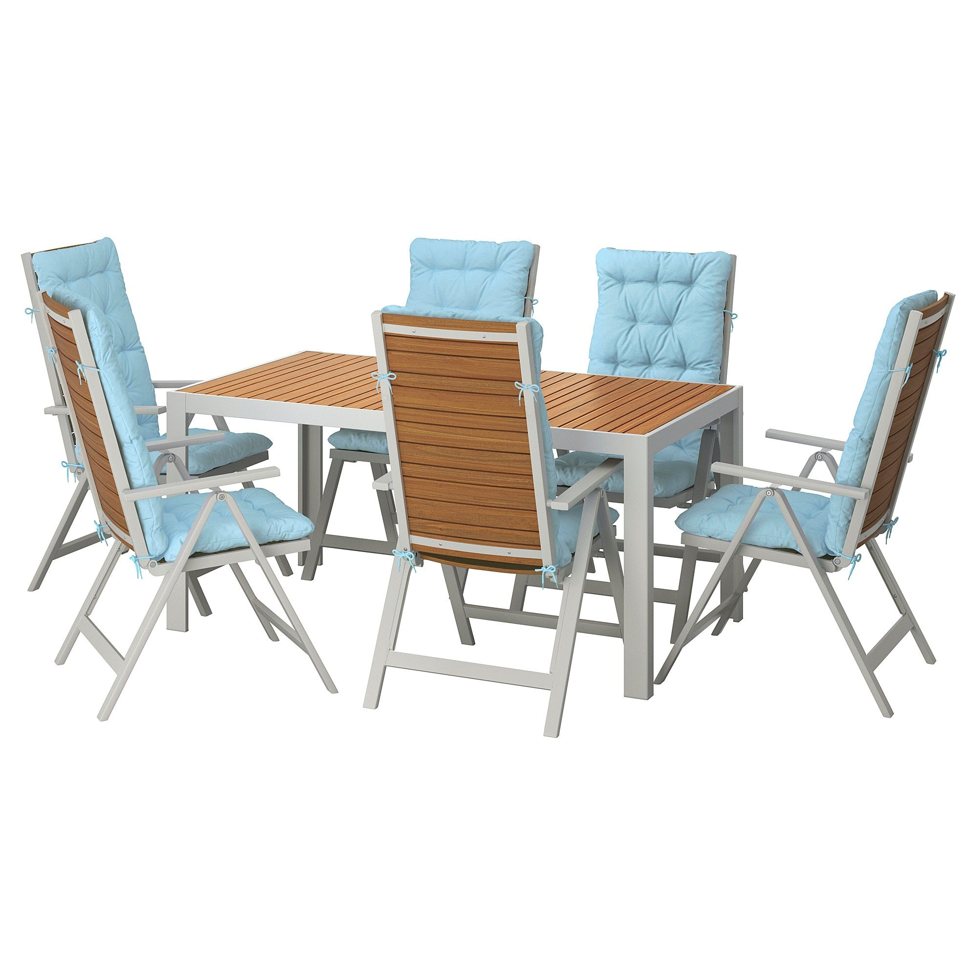 Wondrous Sjalland Table 6 Reclining Chairs Outdoor Light Brown Unemploymentrelief Wooden Chair Designs For Living Room Unemploymentrelieforg
