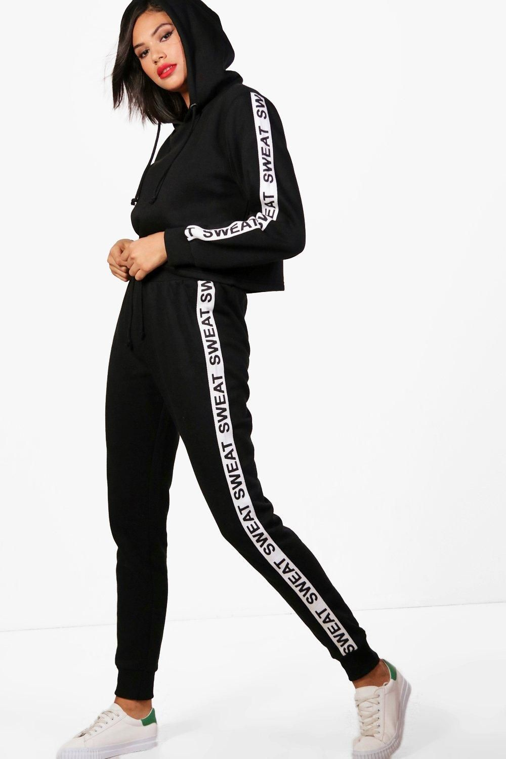 5b828794d877 Click here to find out about the Ella Athleisure Sweat Slogan Tracksuit  from Boohoo, part of our latest Tracksuits & Sweats collection ready to  shop online ...