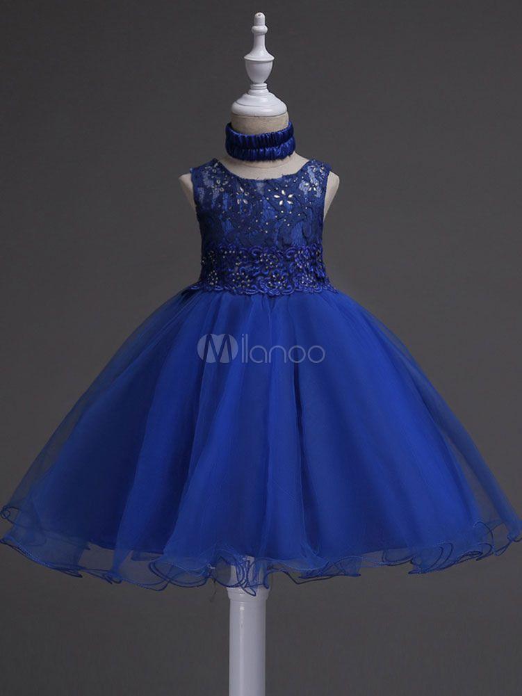 Vestidos De Fiesta De La Cena Encaje Azul Rebordear Vestidos
