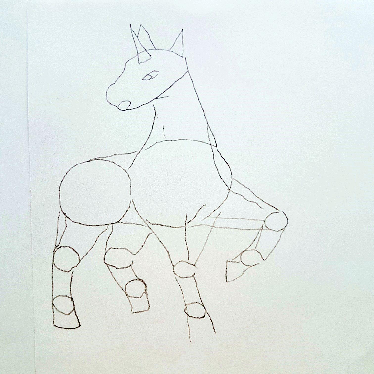 Anleitung zum zeichnen des Pokemon Gallopa