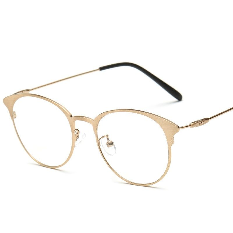 price tracker and history of 2017 new europeamerica trend retro vantage brushed metal glasses women men students hot sale eyewear multicolor glasses frame - Womens Metal Eyeglass Frames