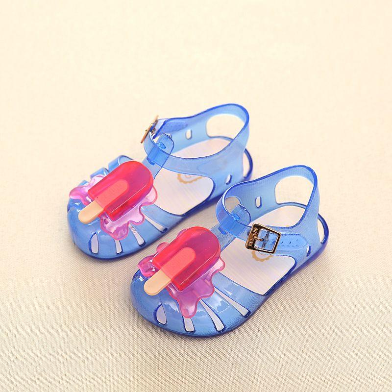 17d1c7725 11.8-16.8cm shoes children s summer sandals for girls kids shoes jelly sandals  child princess crystal hole shoes  Affiliate