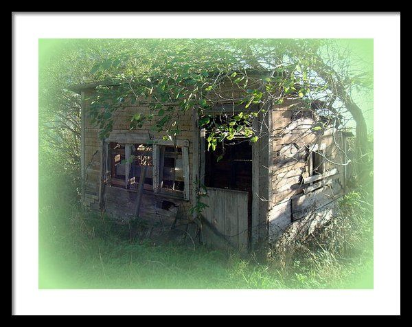 #iowa #photography #fineart #art #gifts Chicken Coop Framed Print By Bonfire Photography