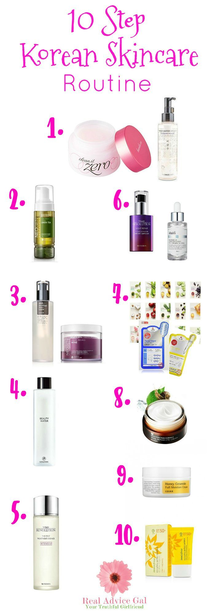 10 Step Korean Skin Care Routine - Real Advice Gal  Korean