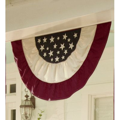 Plow  Hearth Half-Round American Flag Bunting 4th of July !!!! oh