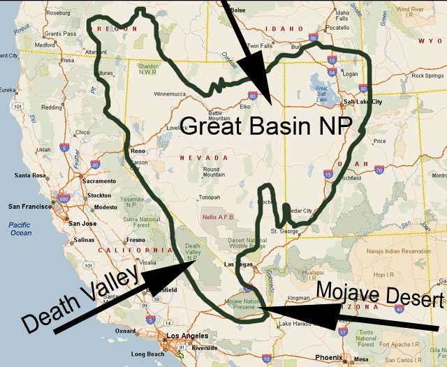 Great Basin Map File Name GreatBasinMapjpg Resolution - Us map great basin