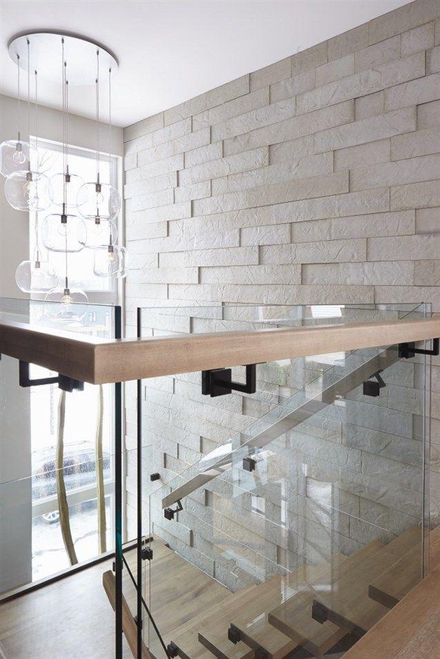 Voici notre Mur 3D en béton véritable avec fini pierre naturelle