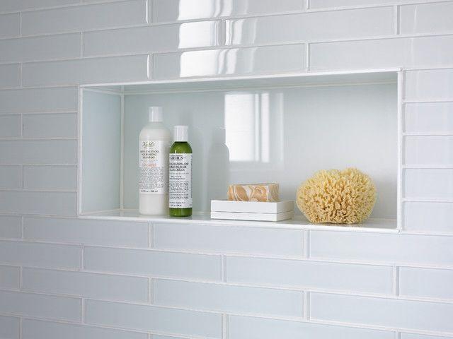 Clear glass for shower niche bathroom ideas pinterest for Bathroom niche design