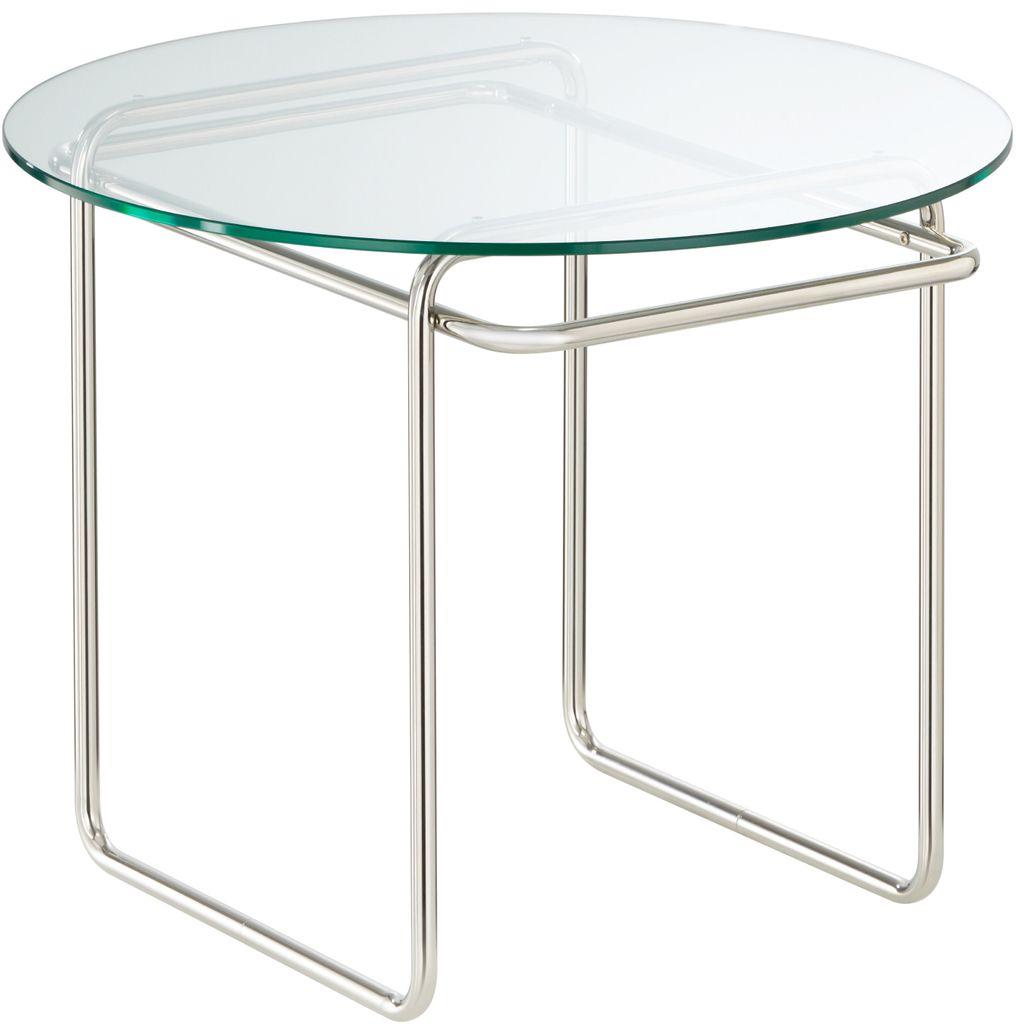 TECTA K40 Kristallglas Couch Tisch Marcel Breuer Bauhaus Persp 2