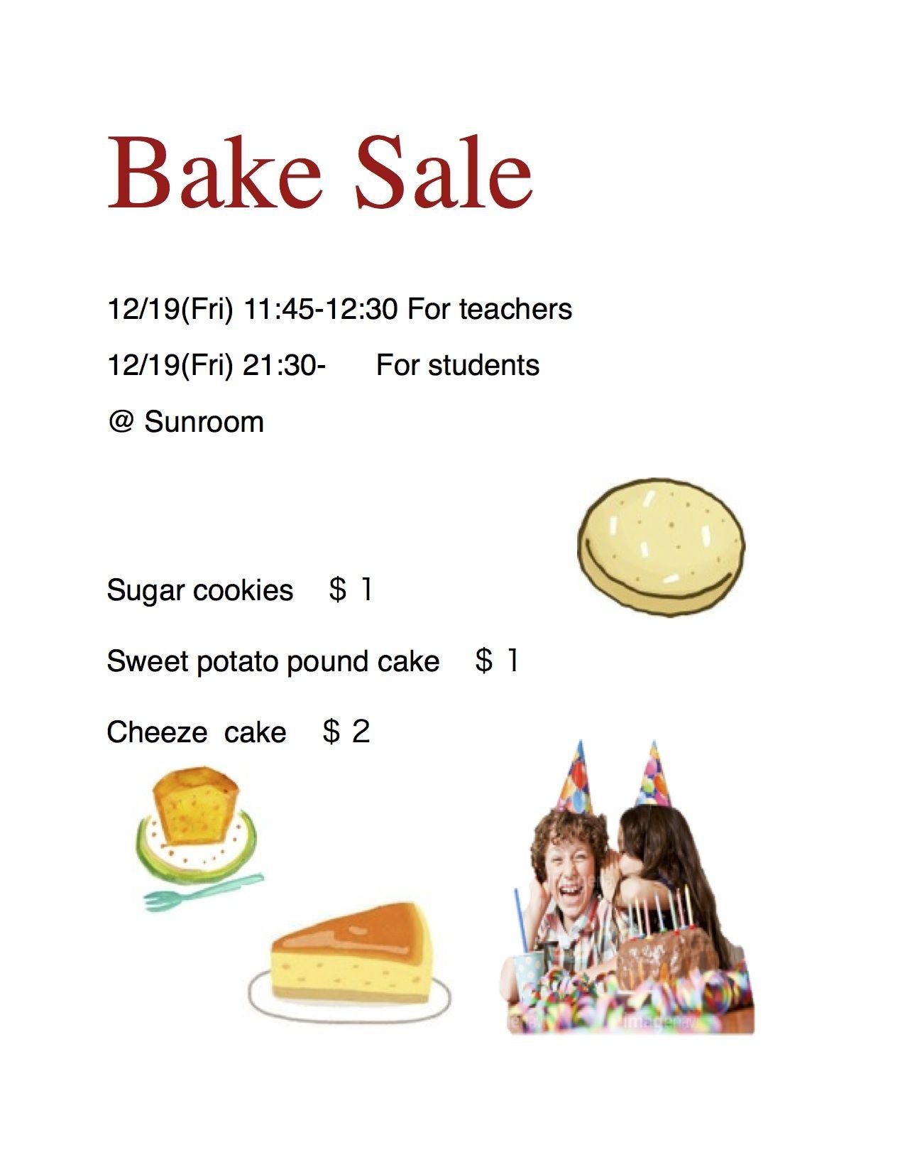 Bake Sale Flyer Bake sale, Bake sale flyer, Sweet potato