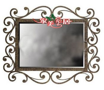 Fashion Wrought Iron Furniture Iron Frame Wrought Iron Dressing Mirror Wall Mount Picture Frame Bathro Con