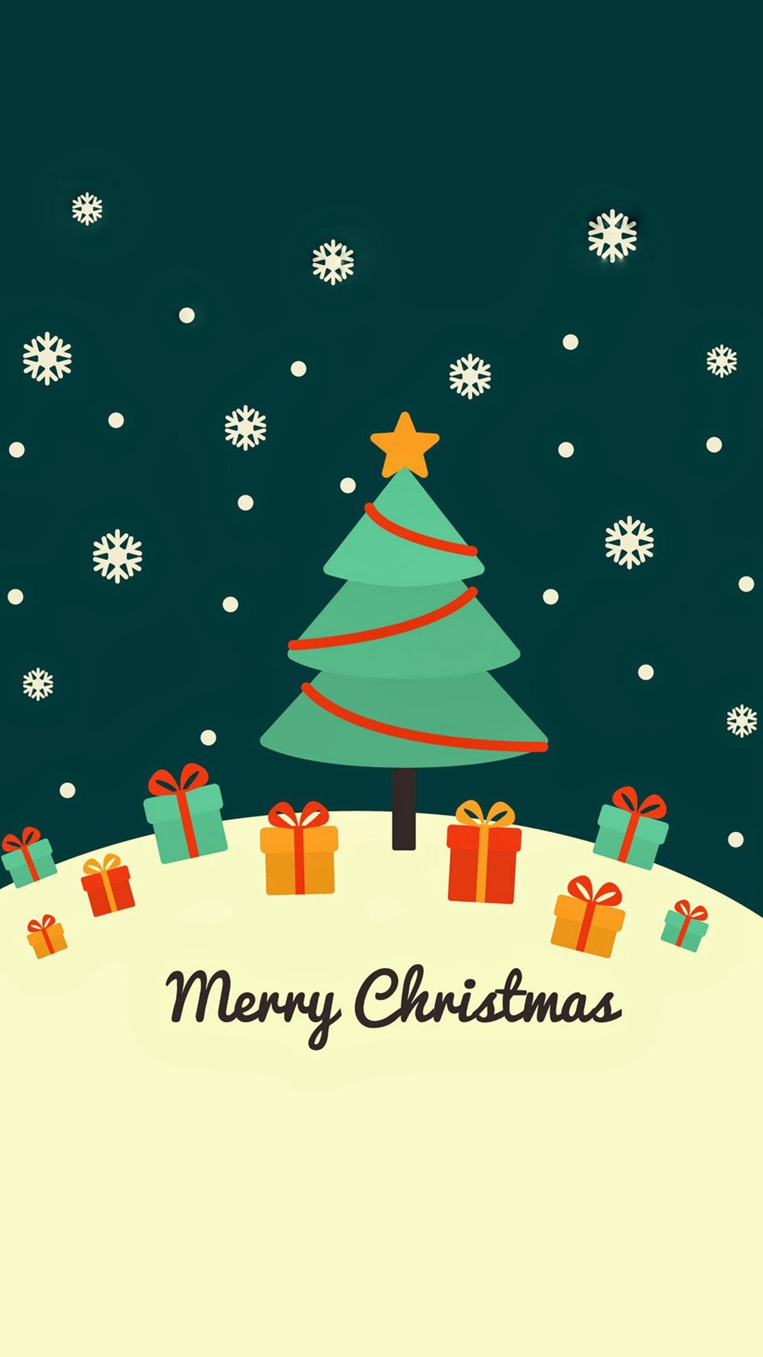 Cute Christmas Card Greeting iPhone 6 wallpaper iPhone 6