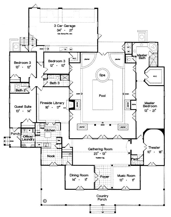 Us Weekly Latest Celebrity News Pictures Entertainment Pool House Plans Luxury House Plans Courtyard House Plans