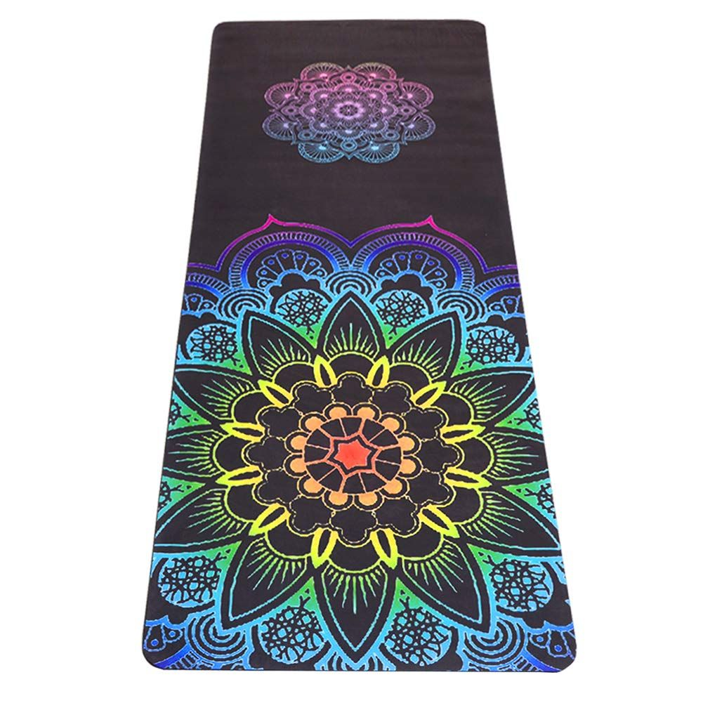 Umineux Yoga Mat Natural Rubber Eco Friendly 5mm Extra Thick Yoga Mat Non Slip Suede 2 In 1 Mat Towel Pr Thick Yoga Mats Extra Thick Yoga Mat Mat Exercises