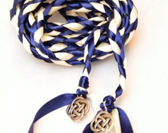 Items Similar To Navy Celtic Knot Wedding Handfasting Cord V2 Ceremony Theme 6ft Irish Tying The On