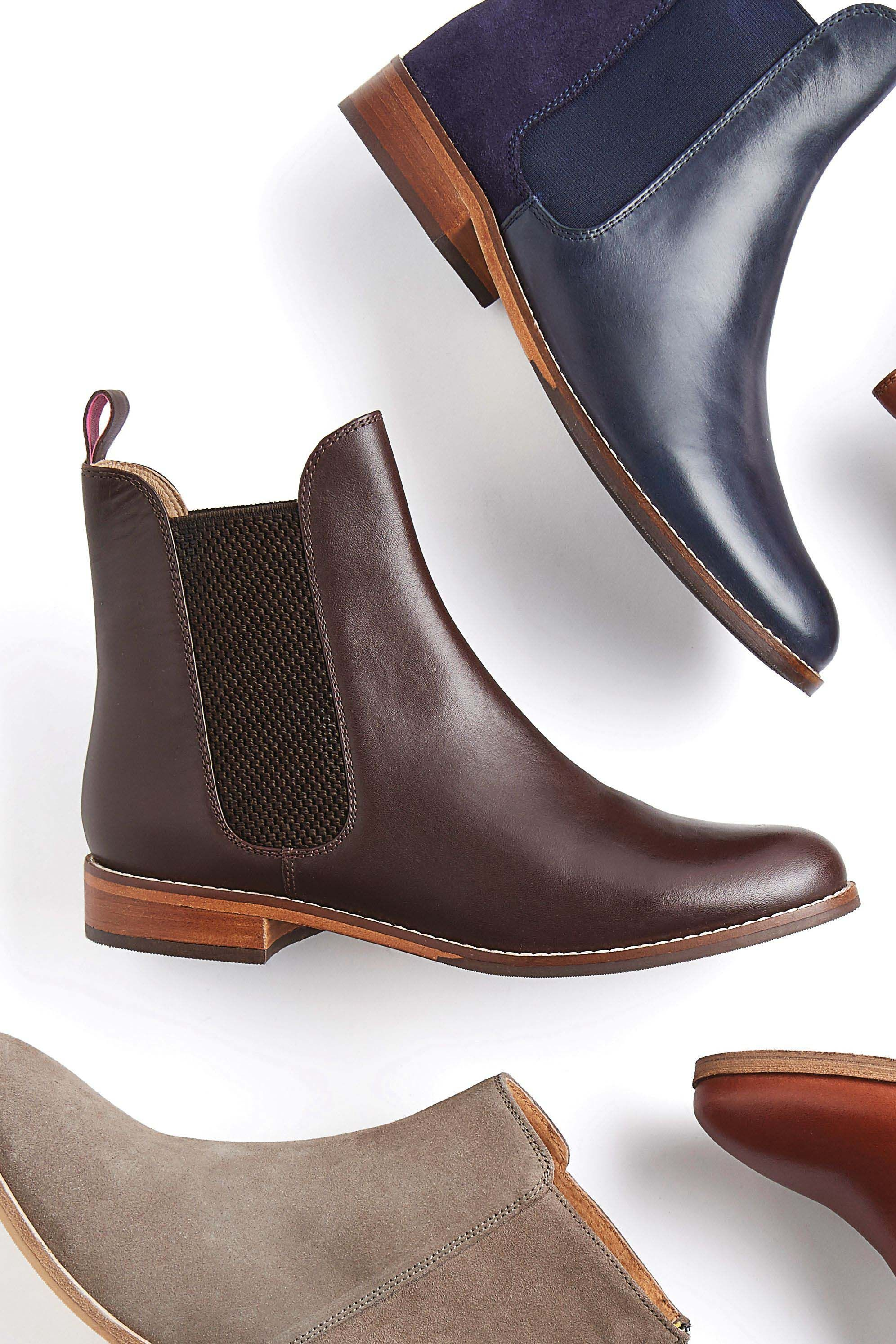53dc3e467 Womens Joules Dark Brown Westbourne Leather Chelsea Boot - Brown ...