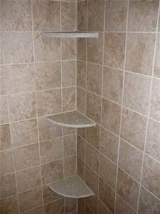 install tile corner shelf in shower - Bing Images | Classic Country ...