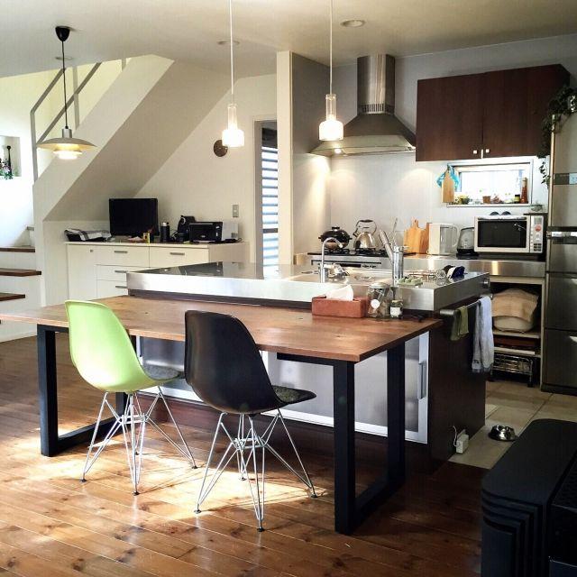 Kitchen Impossible 31 07: キッチン/ミッドセンチュリー/イームズ/ルイスポールセンのインテリア実例