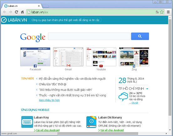 If your web browser homepage is changed to Laban.vn without reason  suddenly, your