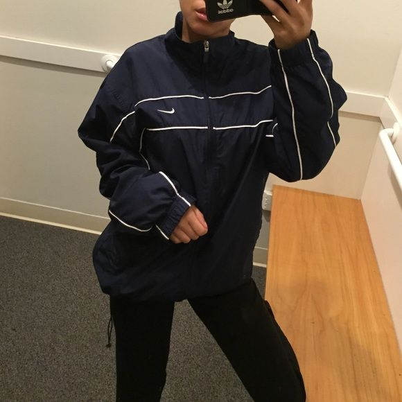752240a4d2d6 Small navy Nike windbreaker Thick windbreaker. Size small. True to size.  Like brand new. No trades firm price. Nike Jackets   Coats