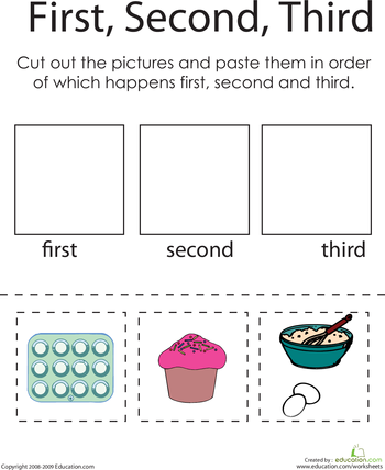 Worksheets Sequencing Skills Worksheets Preschool first second third a baking challenge context clues well sequencing worksheetscomprehension worksheetsreading comprehension skillsworksheets