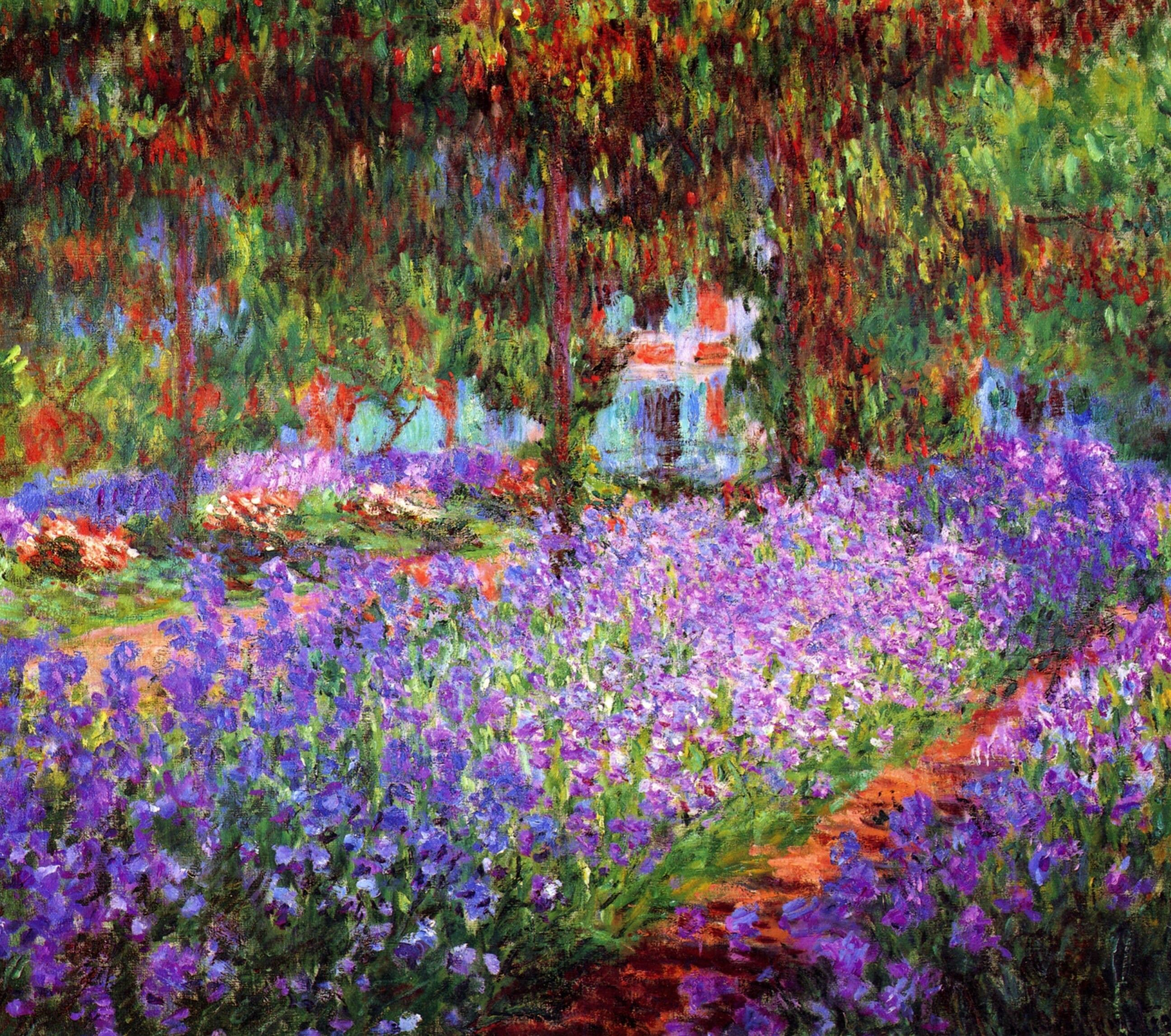 Monet The Artists Garden at Giverny Giclee Art Reproduction on