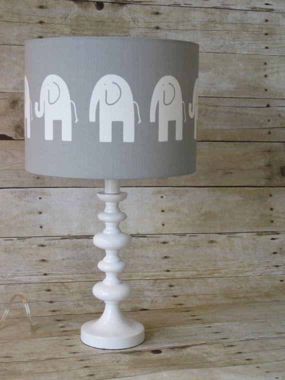 Lamp Shade Elephant Drum Lampshade In Gray By Sweetdreamshades Elephant Room Elephant Decor