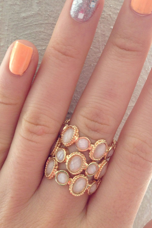 Linked Stone Ring