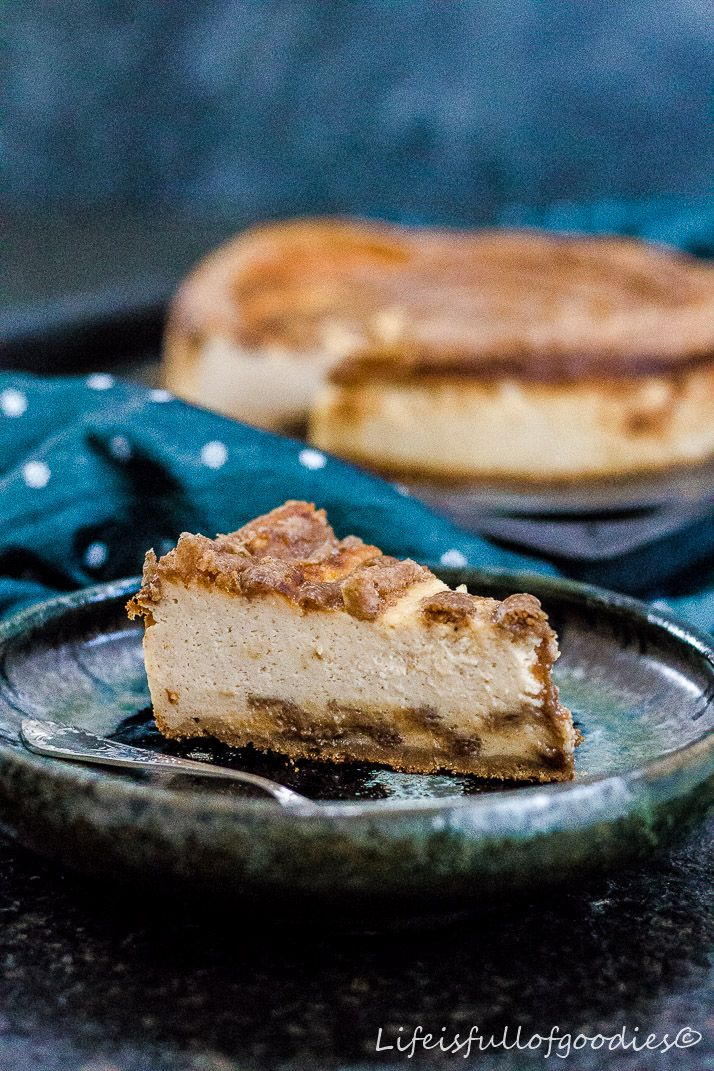 Cinnamon Roll Cheesecake - Life Is Full Of Goodies