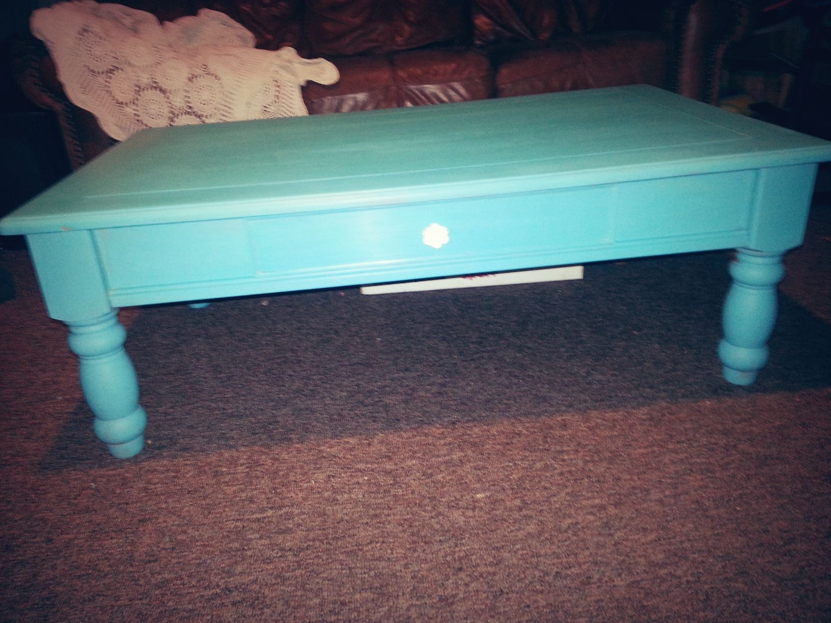 Coffee Table In Turquoise My Projects Pinterest