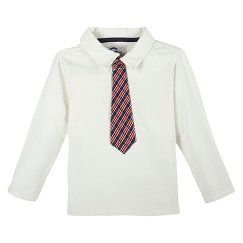 G-Cutee® Toddler Boys' Polo Shirt and Tie - Winter White