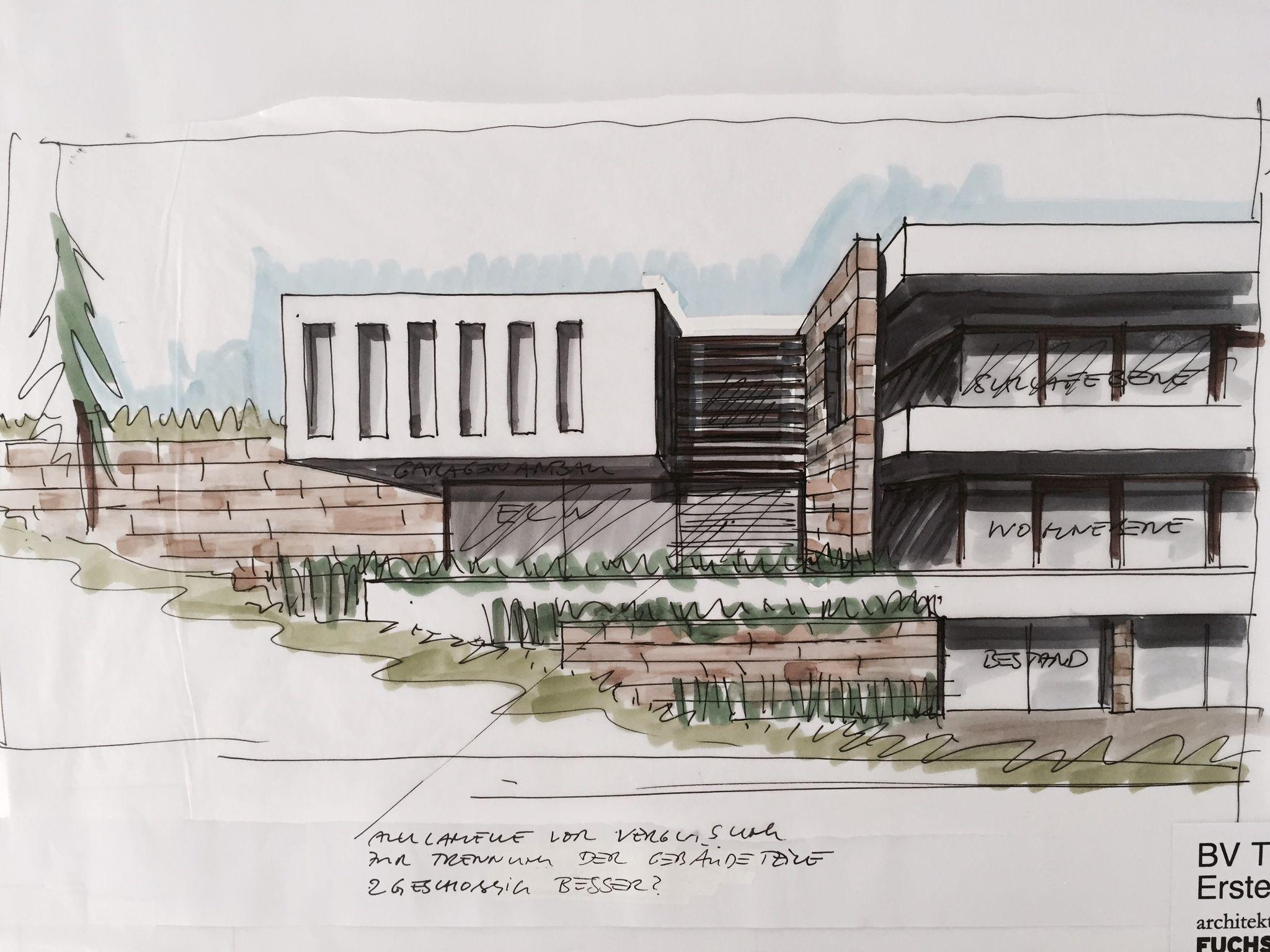 Pin von Thomas Wacker auf Sketch Haus planung, Architekt